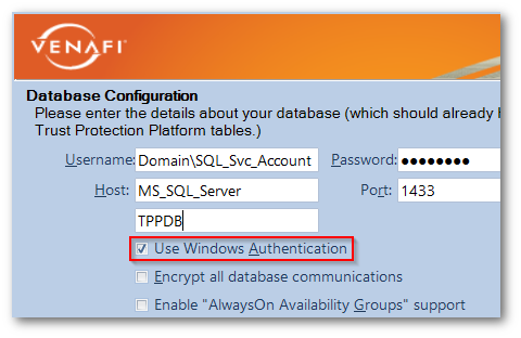 Info: Understanding Windows Authentication with MS SQL