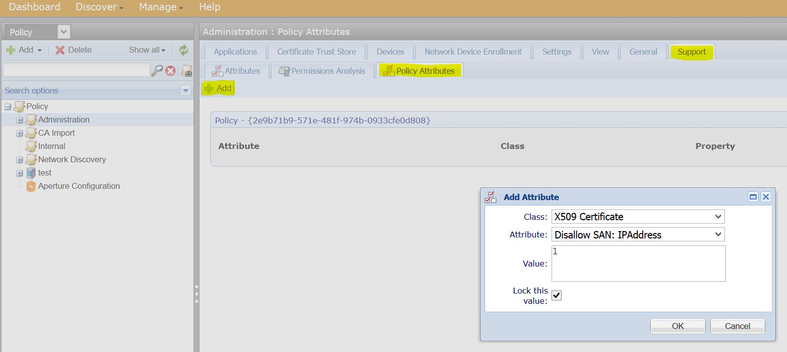 How To How To Disallow San Types Venafi Customer Support
